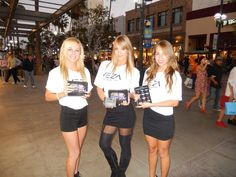 The #VezaGirls at the 3rd Street Promenade in Santa Monica. www.vezabands.com