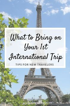 What to Bring on Your First International Trip(2)