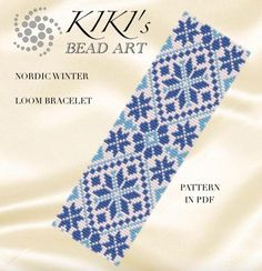 Bead loom pattern  Nordic winter LOOM bracelet pattern in PDF