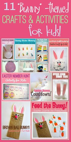 "Fun ""Easter Bunny"" activities for kids! :)"
