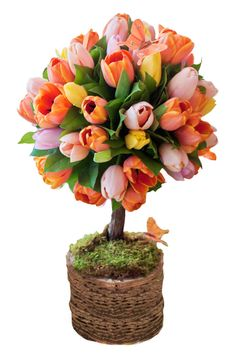 Floral topiary centerpiece.