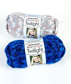 Boutique Twilight yarn shines with sparkling metallic and beautiful colors. This soft bulky yarn works up quickly, just one ball makes a beautiful infinity scarf!