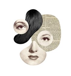 Enjoy the beautiful dada style collages by the French artist and graphic designer Mathilde Aubier. Art Du Collage, Collage Design, Art Design, Face Collage, Graphic Design, Art And Illustration, Illustrations, Photomontage, Abstract Portrait