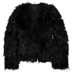 Anna Sui Cropped faux fur coat ($299) ❤ liked on Polyvore