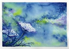 Watercolor abstract of Queen Anne's Lace - love this!