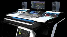 Get the Best Music Production Desks at StudioDesk.Our Workstation Furniture is the best studio furniture for home and professional use. For more visit site! Studio Table, Studio Desk, Home Studio, Studio Room, Studio Setup, Recording Studio Furniture, Music Desk, Simple Desk, Work Station Desk