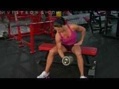 How to do concentration curls: Grab a dumbbell, sit down and get a good biceps pump going with the concentration curl exercise.  Video by LIVESTRONG.COM #Workout