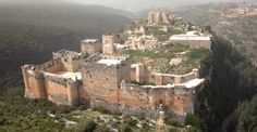 """The Castle of Salah ad-Din (Saladin) stands high on a mountain ridge surrounded by forest. It has been described as """"the greatest Crusader building enterprise of the twelfth century"""". The armies of Salah ad Din took the castle in 1188.  Conservation projects have focused on the palace complex built by its Ayyubid conquerors. More photos: http://flickrhivemind.net/Tags/citadelofsalaheddin/Interesting#"""