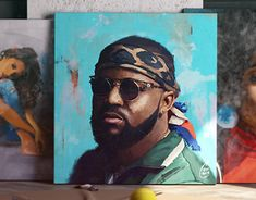 Oil and acrylic painting of Hip Hop artist Caspper Nyovest Hip Hop Artists, New Work, Behance, Gallery, Check, Painting, Painting Art, Paintings, Drawings