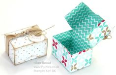 Adorable Mini Box Tutorial Stampin' Up! UK Adorable Mini Box Tutorial Oh I love a dinky box! They just make me all girly and happy and young again! I think it's because it's miniaturised, and although you… 3d Paper Crafts, Diy Paper, Foam Crafts, Stampin Up, Envelope Punch Board, Ideias Diy, Craft Box, Card Tutorials, Diy Box
