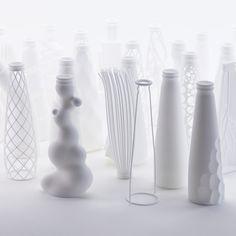 Italian architect Andrea Morgante of Shiro Studio has 3D-printed 25 versions of beer brand Peroni Nastro Azzurro's new bottle design..