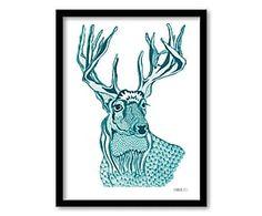 "Dekoracja ścienna ""Deer"", 40 x 30 cm"