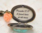 Personalizzato damigelle regali - messaggio ciondolo collana-amicizia-Will essere mio regalo da Damigella damigella d'onore-unico