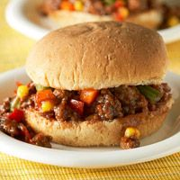 Beef and Vegetable Sandwiches~~Like A Sloppy Joe Only Healthier! Just 28 Gms. Of Carbs (226 Calories). Served On Reduced Calorie Whole Grain Wheat Buns.
