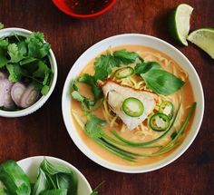 bird & cleaver: coconut curry soup + poached white fish