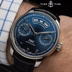 One of the most talked about, and polarizing watches of #sihh2015 - the @iwc Portugieser Annual Calendar. And the official word on that divisive dial text? IWC felt the need to distinguish this watch from the less challenging complete calendar compli