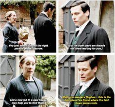 Thomas Barrow and Mrs Hughes   Downton Abbey Season 6