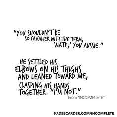 http://www.kadeecarder.com/Incomplete    #strongandsassy #goodbooks #youngadult #ya #scifi #sciencefiction #books #trilogy #quotes #insurrection #buymyawesomebook #inspire #empower #yalove #adventure #adventureawaits #boss #alliance #team #warrior #warriorlife #family #cleanreads #bookish @cleanreadsbooks