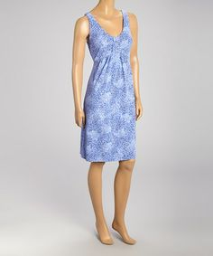 Another great find on #zulily! Peri Blue Batik Flower Spotlight Sleeveless Dress by Fresh Produce #zulilyfinds