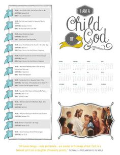 I am a Child of God binder cover with monthly theme, scripture & song.