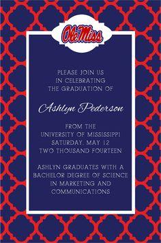 Ole Miss graduation invitation