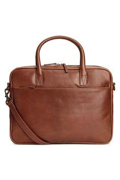Leather shoulder bag - Cognac brown - Men | H&M GB