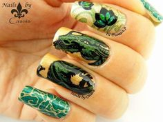 MoYou London Rainbow Contest Entry - Green #moyoulondon #nailstamping