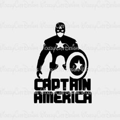 Captain America Silhouette SVG, DXF, EPS, PNG Digital File – Wickedly Cute Designs