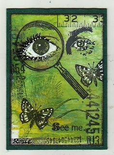 Rosie's Bastelwelt: Eyes - Art Journey - ATC