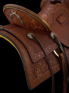 Wade Saddles, Roping Saddles, Western Horse Saddles, Cowgirl And Horse, Western Riding, Horse Gear, Horse Tack, Leather Art, Leather Tooling