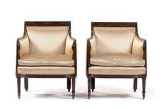 c1900 Colonial Revival Sheraton arm chairs, poss E Hagen, NYC, mah, 37t, 10-14.