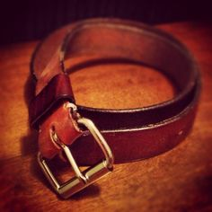 Handmade Custom Leather Belt by AnchorLeatherCo on Etsy, $38.00