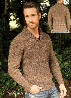 0425485703a377 51 Best Manly Knits  Knitting Patterns for Men s Sweaters images in ...
