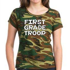 First Grade Troop shirt - great team shirt or gift idea for first grade teachers!