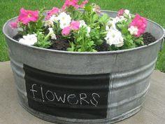DIY washtub planter