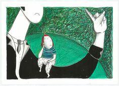 """""""Rabietas"""" Gouache y lápiz sobre papel. 2014"""