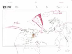 Genga animation of Yutaka Nakamura, from Sword Of The Stranger.