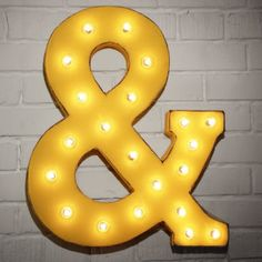 Custom 21 Yellow Ampersand Vintage Marquee Sign