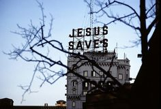 Jesus saves quotes sky outdoors jesus trees sign faith building
