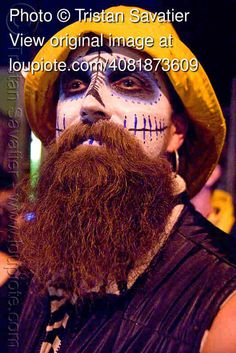 man with skull makeup, bindis, dia de los muertos, halloween | Dia ...