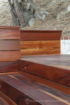 Advantage Tigerwood creates strikingly beautiful decks and gives you a look composite decking just can't replicate. AdvantageLumber.com ® #california #deck