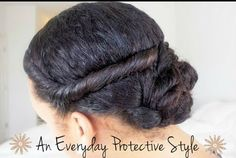 An Easy Everyday Protective Style   Read the article here - http://www.blackhairinformation.com/general-articles/hairstyles-general-articles/easy-everyday-protective-style/ #protectivestyles #naturalhairstyles
