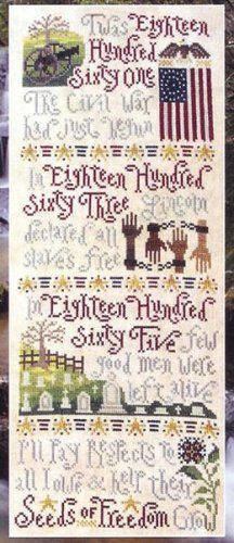 Seeds Of Freedom is the title of this patriotic cross stitch pattern from Silver Creek Samplers - alot going on in this design and promises ...