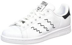 adidas Damen Stan Smith Sneakers, Weiß (Ftwr White/Ftwr White/Core Black), 41 1/3 EU - http://on-line-kaufen.de/adidas/41-1-3-eu-adidas-damen-stan-smith-sneakers-2