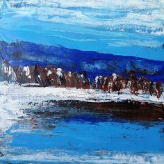 Абстрактное Озеро в горах .. . . #акриловыекраски #abstractart #acrylic #art #abstract #landscape #рисуйкаждыйдень #contemporaryart #contemporary