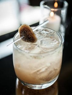1 1/2  Ounce  Metaxa Greek brandy     1  Tablespoon  fig jam     3  lemons     1/2  Ounce  honey   Directions  In tin, muddle lemons then add honey, jam, Metaxa, and ice. Shake and strain in rocks glass. Top off with soda water and garnish with a dried fig.