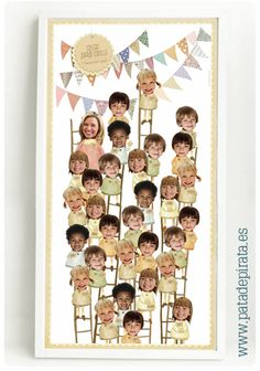 Qué felices son los días de colegio. Los primeros amigos, que aún de adultos recordamos e incluso conservamos. Y los maestros, que día a día les ayudan y nos ayudaron a crecer. En esta orla están todos, con su mejor sonrisa. Un precioso recuerdo. Classroom Displays, Classroom Decor, Lessons For Kids, Art Lessons, Orla Infantil, Diy For Kids, Crafts For Kids, Ladybug Crafts, Montage Photo