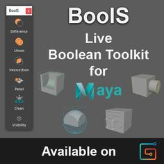 BoolS - Live Boolean Toolkit for Maya, Sergei Azarchenkov Animation Tools, Animation Tutorial, Face Topology, Digital Sculpting, Test Card, Text You, Art Tips, Zbrush, Maya