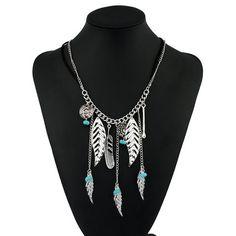 Antique Silver Vintage Bohemian Necklace