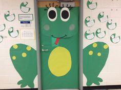 Frog classroom door- so adorable!!  gotta do this!!